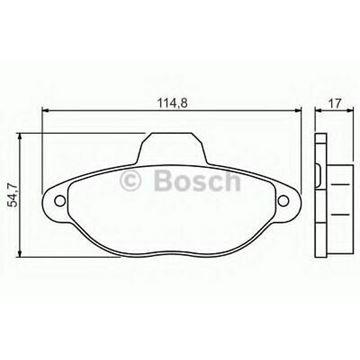 Slika za Disk pločice prednje Punto II,III Bosch